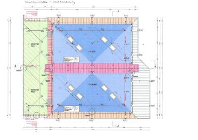 Turnhalle, Dach, Plan